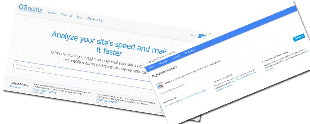 google pagespeed gtmetrix